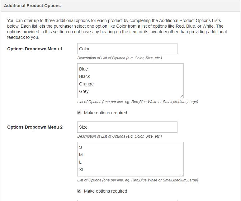 Website Support Blog: Improvement: Product Option Dropdowns